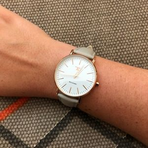 Accessories - Grey Leather Watch